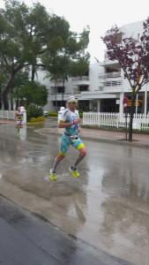 Alessandro Degasperi in azione durante l'Ironman 70.3 Mallorca dove ha fatto registrare la terza migliore frazione podistica (01:16:23)
