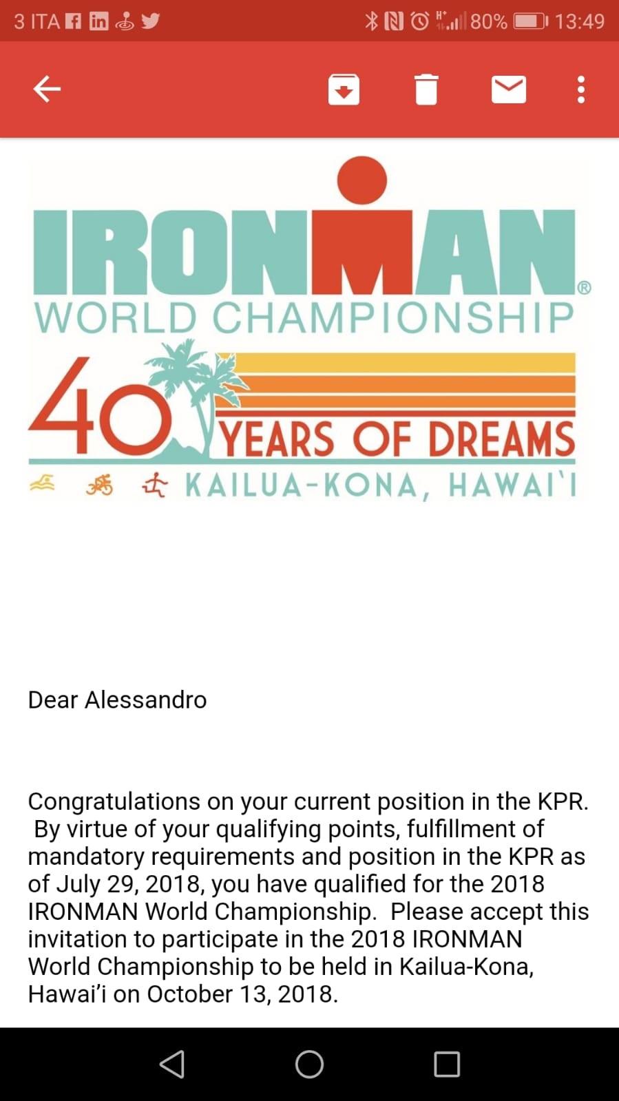 Alessandro Degasperi | Ironman World Championship | Kaliua Kona